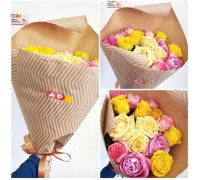 Bright bouquet of 15 roses of different colors!