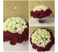 Шикарный букет-101 роза