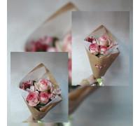 Роза с альстромерией!