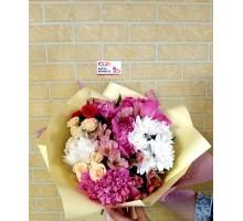 Нежный букет в розовых тонах!
