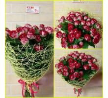 15 веточек кустовой розы Бабл Гам в зеленой сетке!