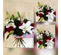 Букет из розы с лилией!