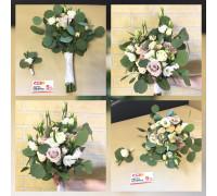 Букет невесты из нежный розы и эустомы!