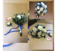 Свадебный букет из роз!!!!