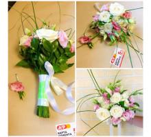 Свадебный букет из роз и эустомы!