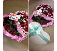 Розы и ягоды в шляпной коробке!