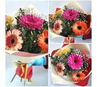 Bright bouquet of 5 gerberas!