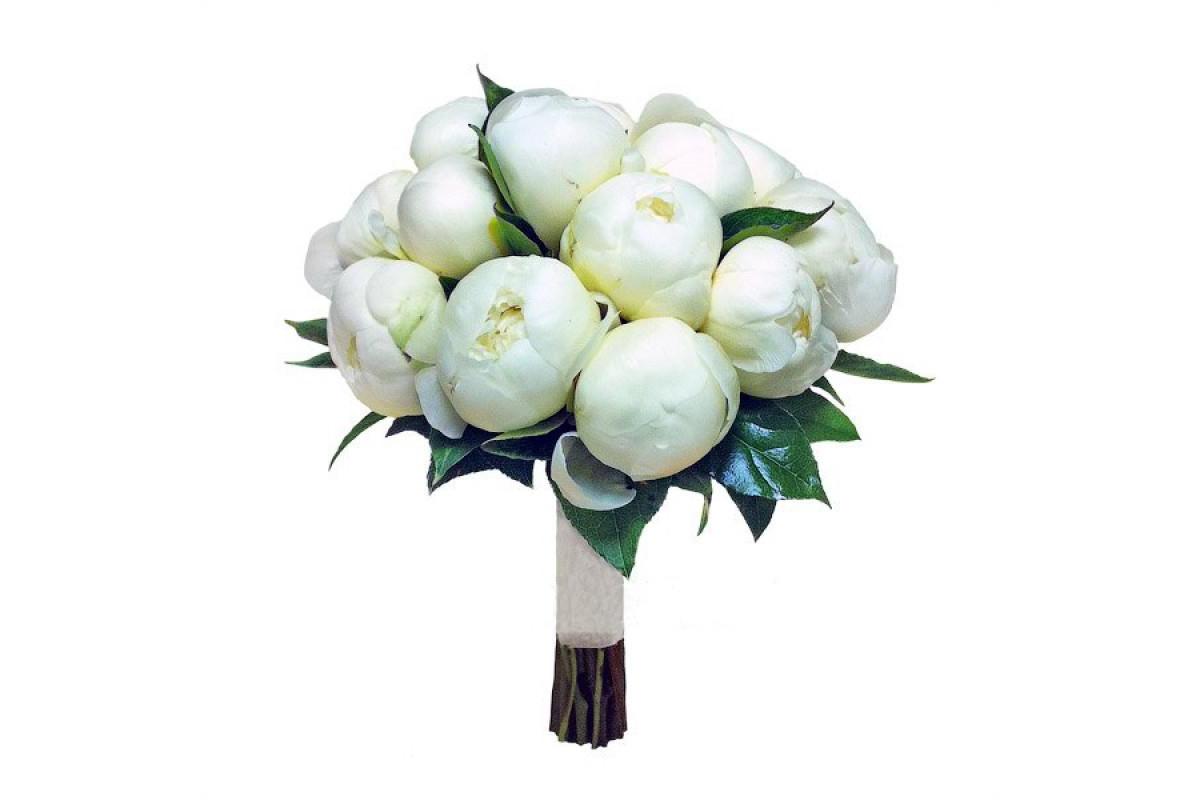 Букет невесты из 7 пионов, свадебные букеты розовых