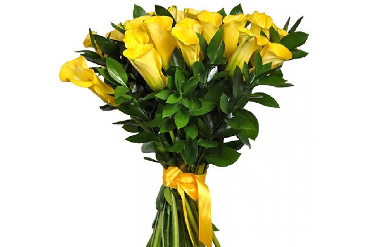 Красивые букеты с каллами и другими цветами, красиво букет