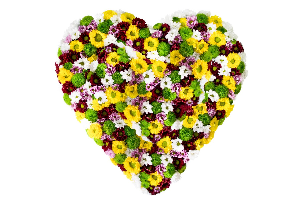 Заказ, цветы в виде сердца спб
