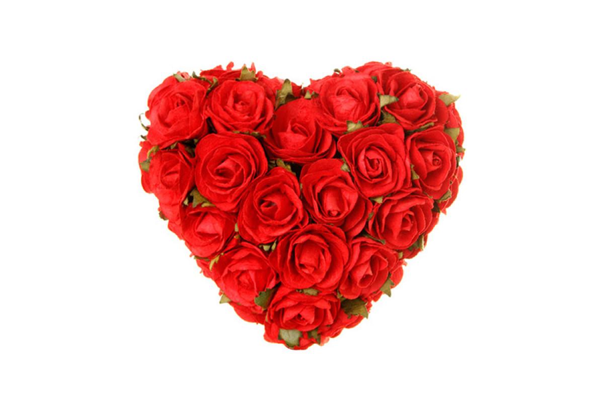 Самые красивые букеты из роз в форме сердца, цветы