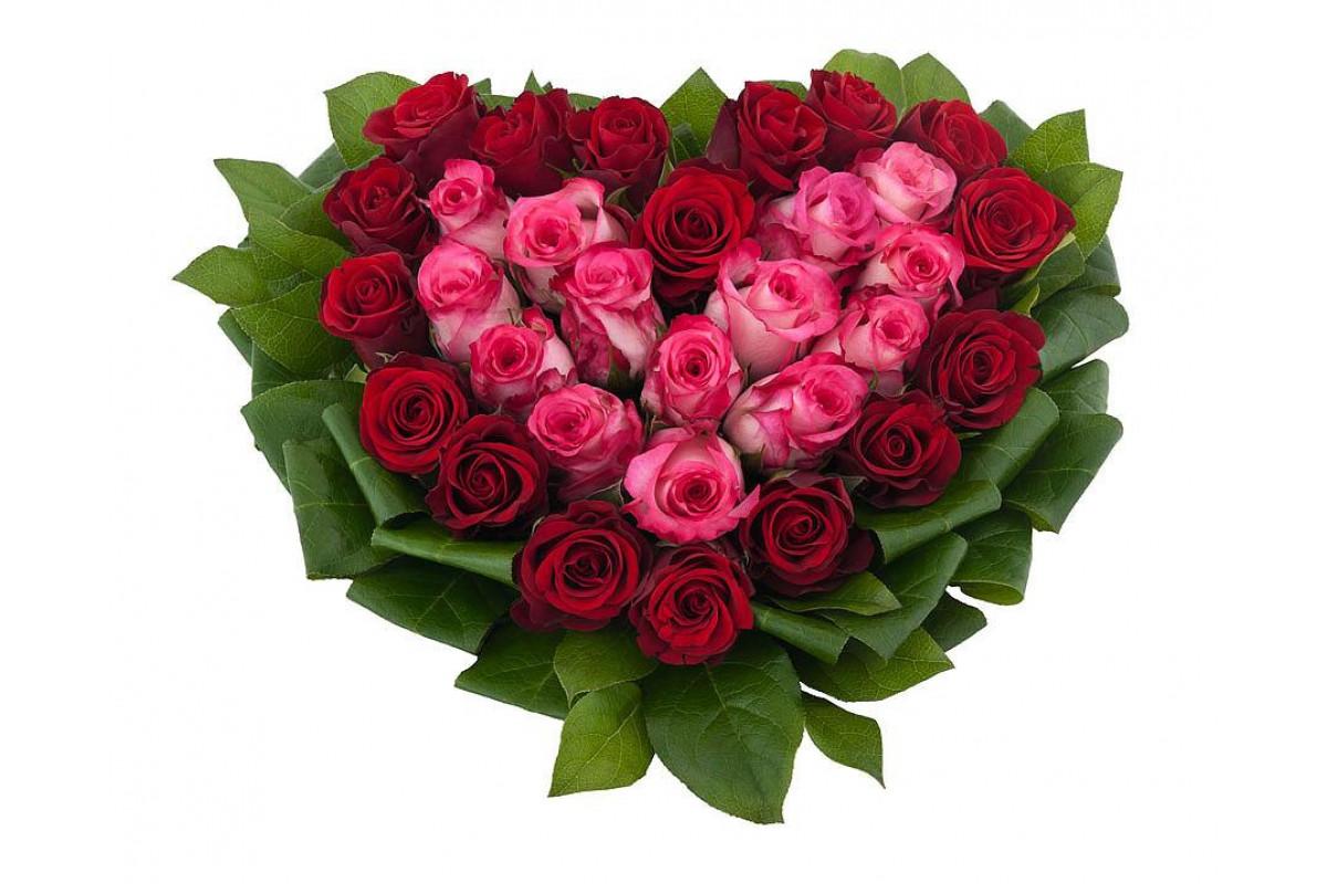 Сердечки из роз в картинках