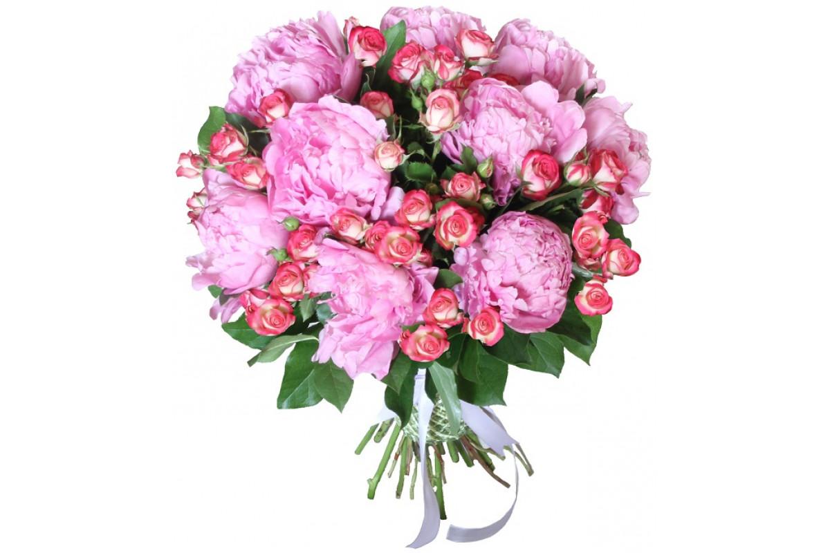 Недорогие букеты из пионов и роз фото, дешевых