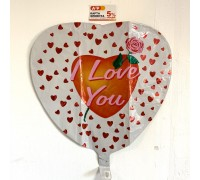 "Foil balloon heart ""I love you"""