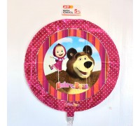"Foil ball ""Masha and the bear"""