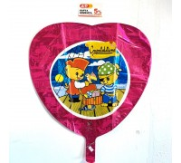 Foil balloon heart with a children's pattern