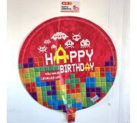 "Balloon foil ""Happy Birthday"" Tetris"