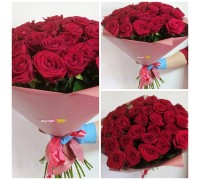 29 red roses in a stylish package!