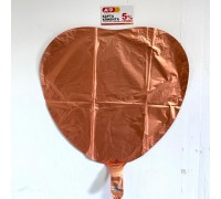 Balloon heart foil, bronze