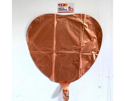 Balloon heart foil, bronze