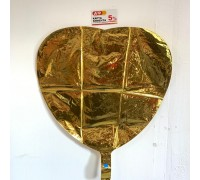 Balloon heart foil gold