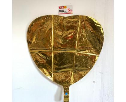 Balloon heart foil gold