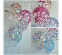 Balloons with confetti!