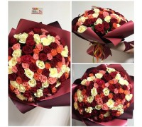 Bouquet of 101 roses mix 40 cm!