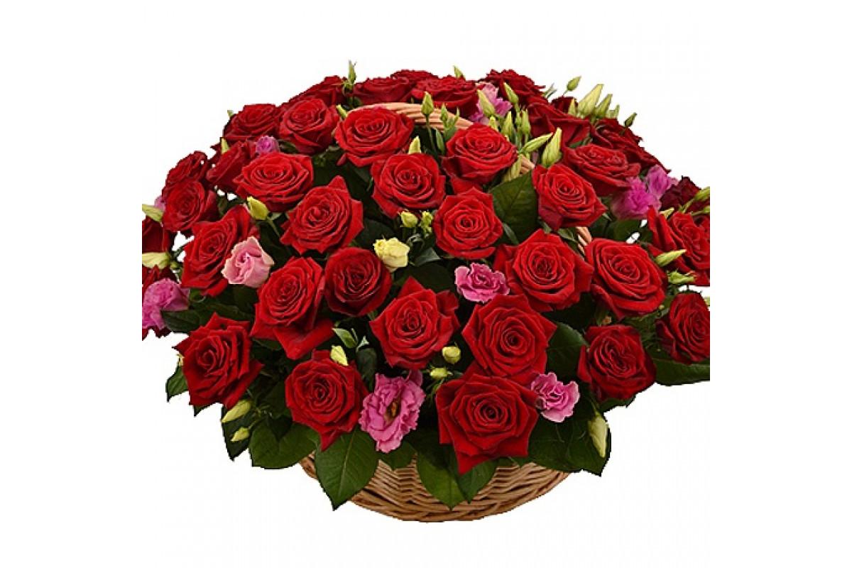 Красивый большой букет роз на прозрачном фоне, цветов