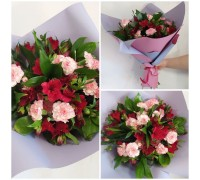 Bouquet of alstroemeria and carnations!