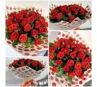 "Bouquet of 31 roses ""Pioner"""