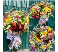 Bright bouquet in the field style!