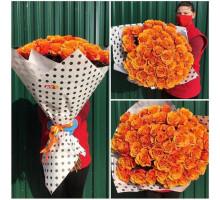 51 rose orange rose 70 cm!
