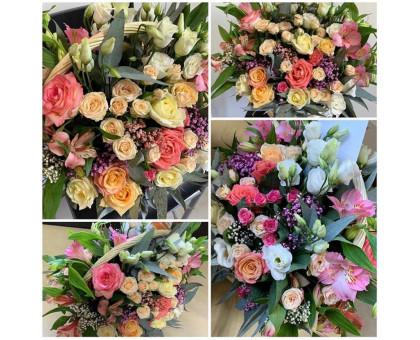 Cute and bright flower arrangement.