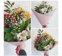 Alstroemeria bouquet with gypsophila!