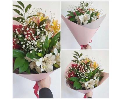 Alstroemeria bouquet with gypsophila!