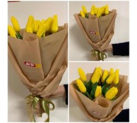 11 yellow tulips in craft!