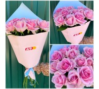 15 pink roses in Korean craft!