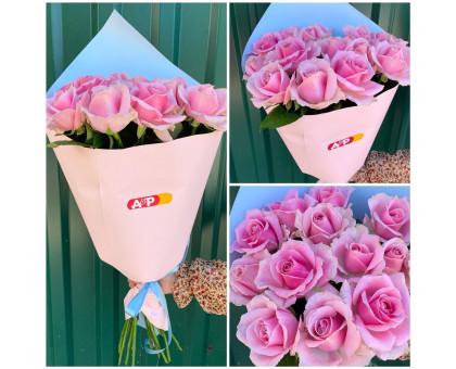15 pink roses in Korean craft!