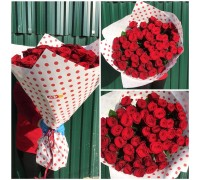 51 red rose 60 cm!