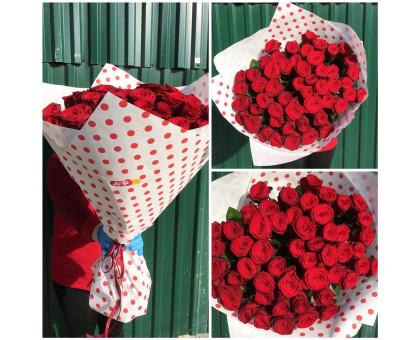51 red rose 60 cm!