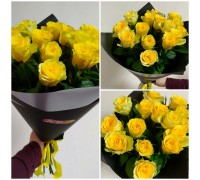 15 yellow roses 50 cm in a stylish package!