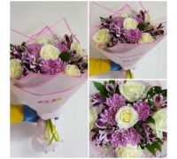 Bouquet of roses, chrysanthemums and alstroemeria!