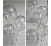 Balls with silver confetti!