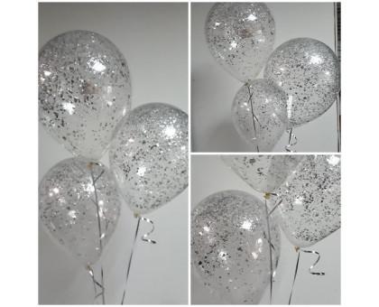 Balls with silver confetti!