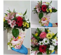 Flower arrangement in a cone!