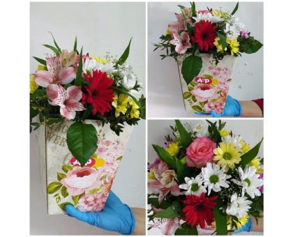 Flower arrangement in a cone!