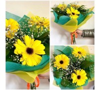 Bouquet of 3 gerberas, gypsophila and greenery!