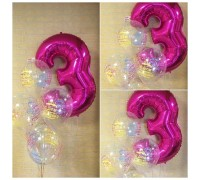 Arrangement of balloons for the girls birthday!