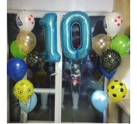Composition of balloons on the 10th anniversary of the son!
